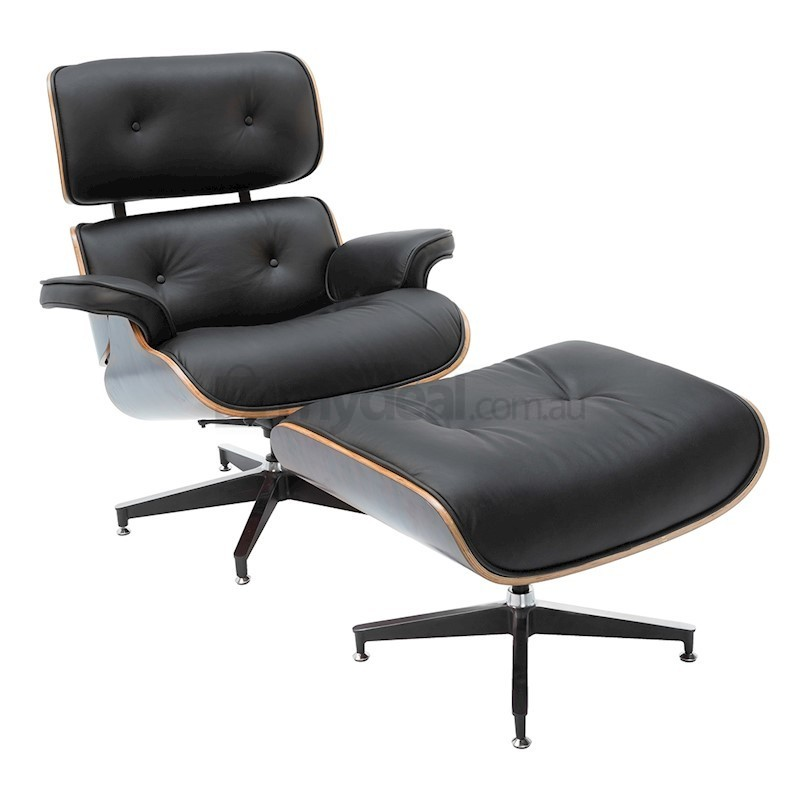 Replica Eames Lounge Chair 4 Star Ottoman Black Buy Chair