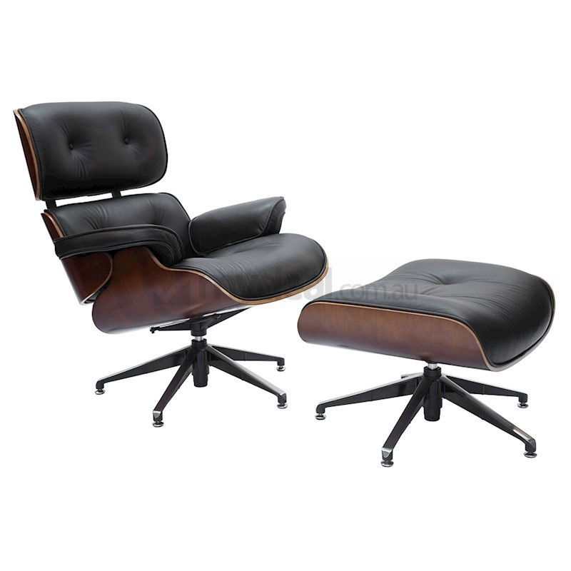 Eames Lounge Stoel Replica.Replica Eames Lounge Chair 5 Star Ottoman Black