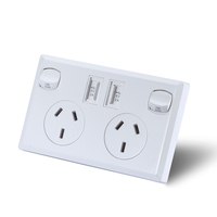 6x Dual USB & Australian Power Supply Socket White