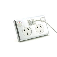 6x Dual USB & Australian Power Point Sockets Silver