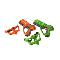 2 Player Laser Tag Gun Set w Masks Orange & Green