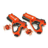 2-Player Laser Tag Gun Set w Robotic Bugs in Orange