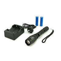 Cree XML T6 Rechargeable LED Torch Flashlight Black
