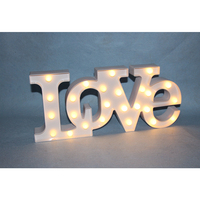25 LED Battery Operated Love Marquee Letter Lights