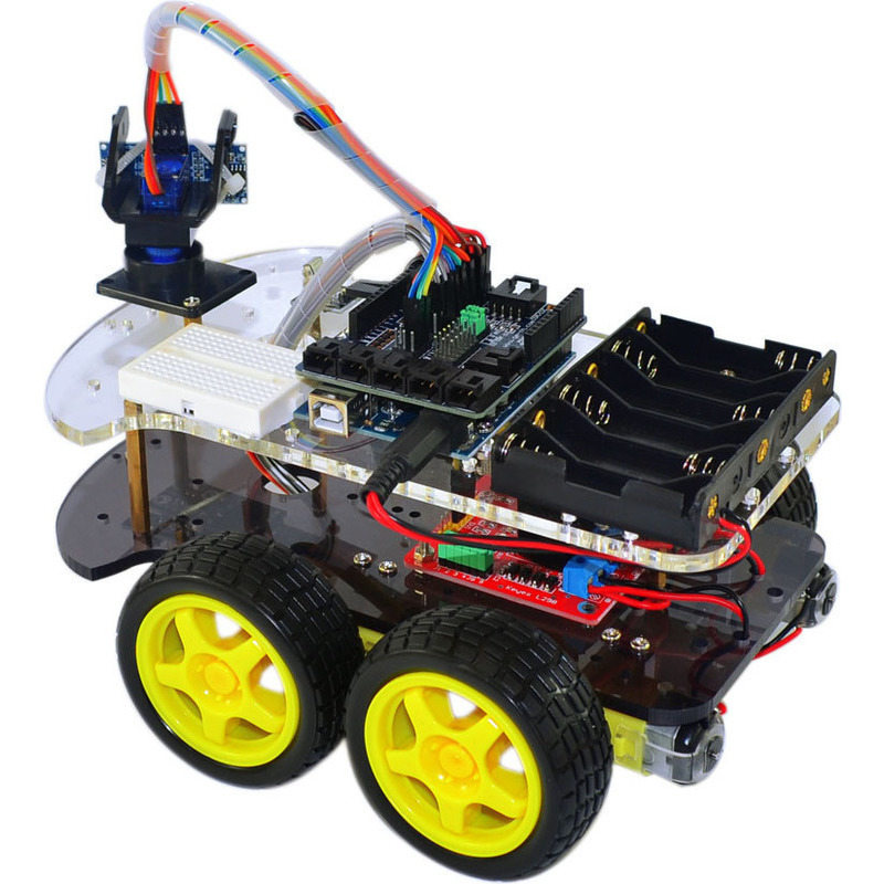 Arduino uno wd ultrasonic line tracer robot kit buy