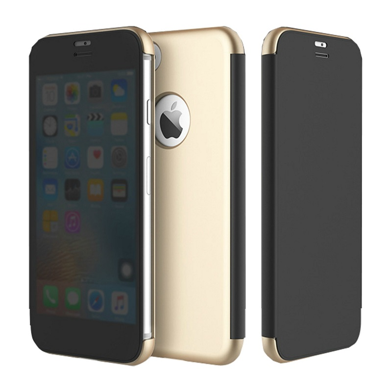 newest collection 0971b 190c4 iPhone 7/7 Plus ROCK Dr.Vision Clear View Smart Case Flip Cover Protective  Case [Gold,Iphone 7 Plus]