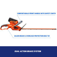 Redback Cordless Electric Hedge Trimmer 40V 22in