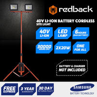 Redback Electric LED Dual Work Light 6000K 20W 40V