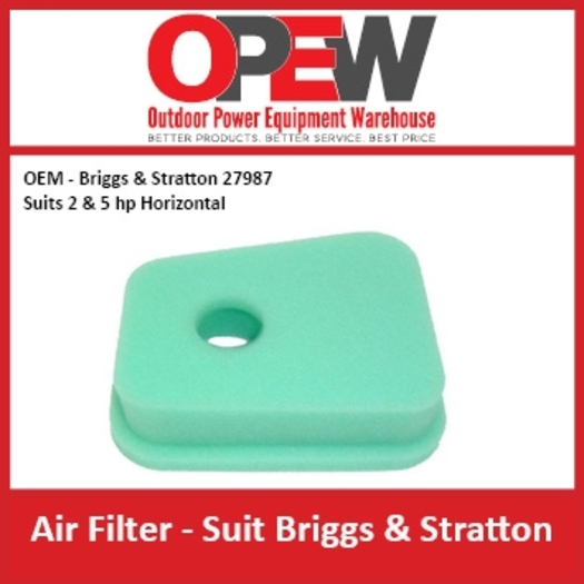 Lawn Mower Air Filter OEM 27987 Briggs & Stratton - Suits 2 & 5 hp AIR-1306