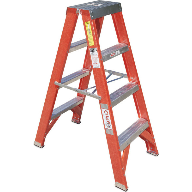 3 Step Fibreglass Amp Aluminium Twin Side Ladder 1 2m Buy