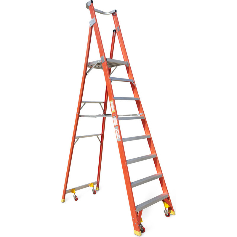 8 Step Fibreglass Amp Aluminium Platform Ladder 3 23m Buy