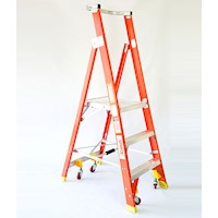 3 Step Fibreglass & Aluminium Platform Ladder 1.77m