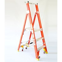 6 Step Aluminium & Fibreglass Platform Ladder 2.64m