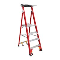 7 Step Fibreglass & Aluminium Platform Ladder 2.94m
