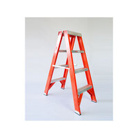 3 Step Fibreglass & Aluminium Twin Side Ladder 1.2m