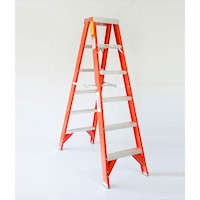 5 Step Aluminium & Fibreglass Twin Side Ladder 1.8m