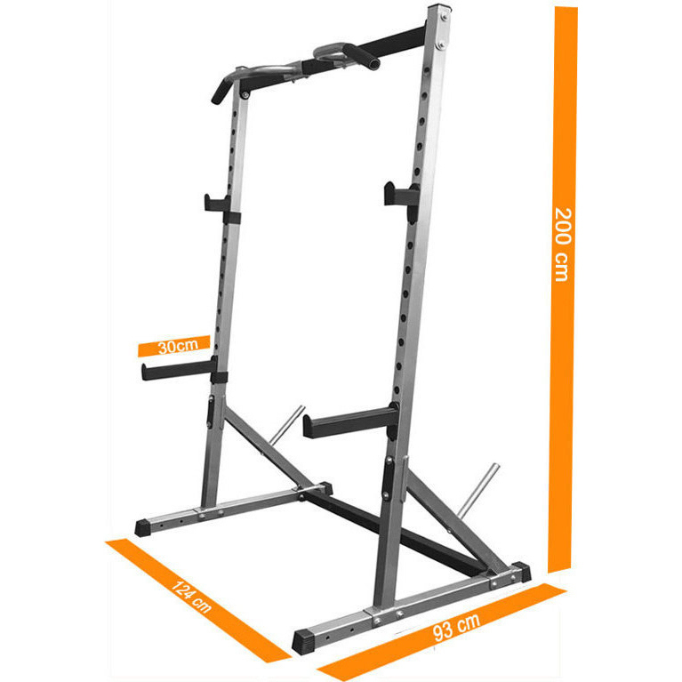Body iron half rack squat rack with 270kg capacity buy for A squat rack