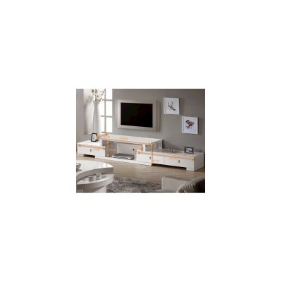 Livio Extendable TV Entertainment Unit in White