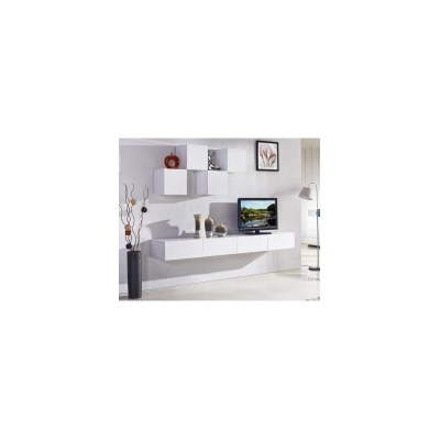 Galaxi Floating TV Cabinet in Gloss White 2.4m