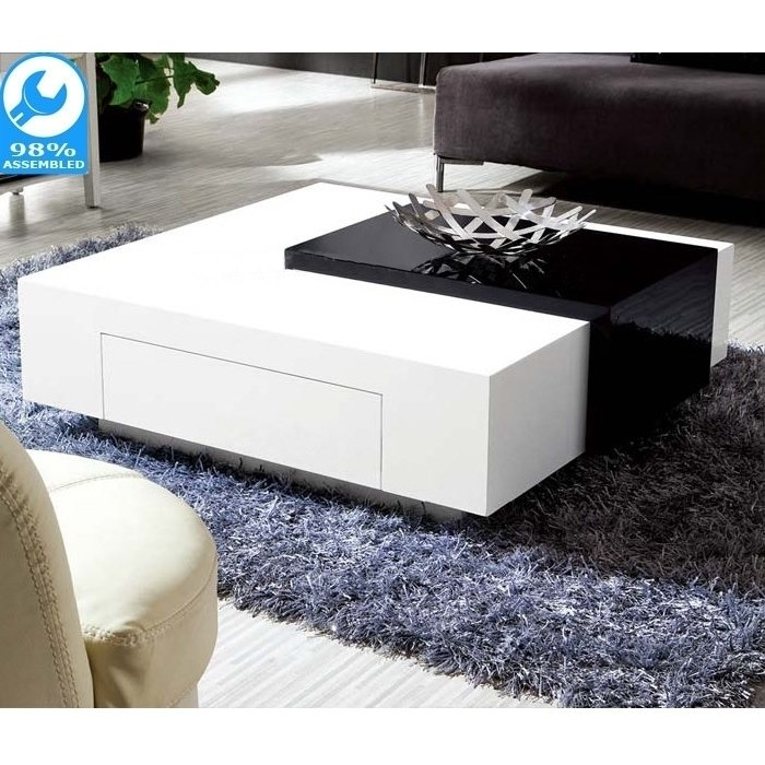 endora upside down drawer coffee table black white buy coffee tables. Black Bedroom Furniture Sets. Home Design Ideas