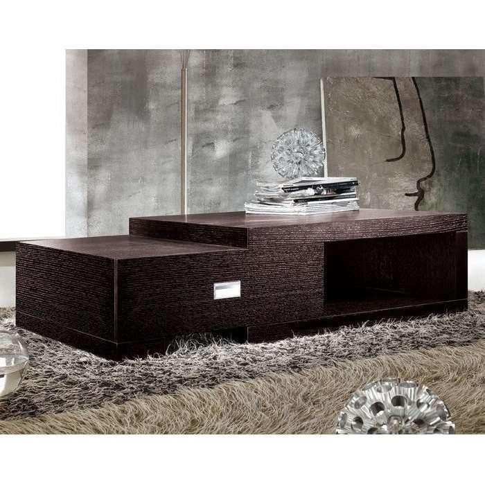 extendable wooden coffee table w drawer in brown buy. Black Bedroom Furniture Sets. Home Design Ideas