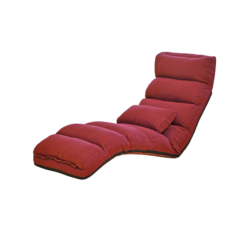 Adjustable floor lounge recliner chaise in burgundy buy for Burgundy chaise