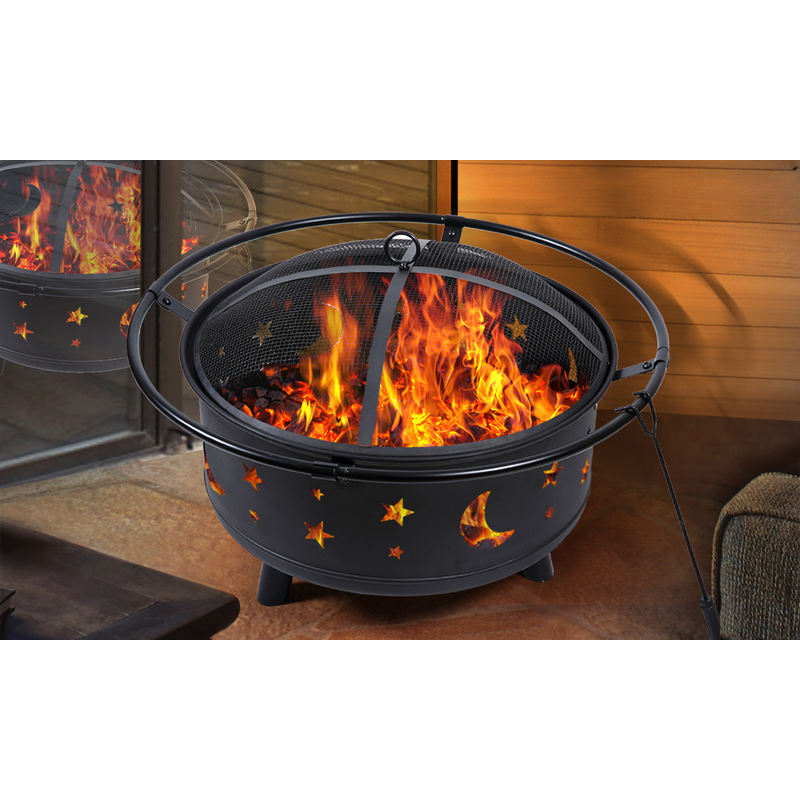 Portable Outdoor Garden Bowl Fireplace With Cover Buy Fire Pits