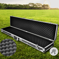 Aluminium Frame Portable Gun Case in Silver & Black