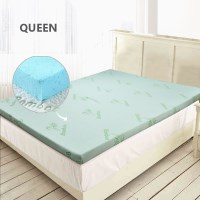 Queen Size Cool Gel Memory Foam Mattress Topper 8cm