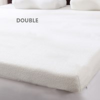 Double Size Memory Foam Mattress Topper White 8cm