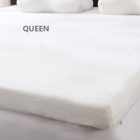 Queen Size Memory Foam Mattress Topper in White 8cm