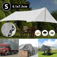 Heavy Duty Tarpaulin in Silver Black 6.1x7.3m