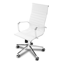 PU Leather Eames Replica Office Chair in White