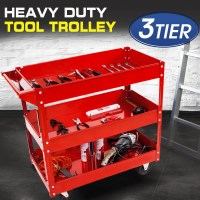 Heavy Duty 3 Tier Tool Cart Trolley with 150kg Load