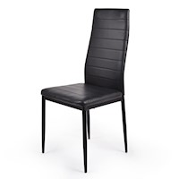 4x Modern PU Leather Dining Chairs in Black 96cm