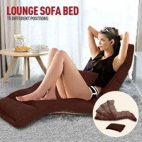 Adjustable Floor Lounge Recliner Chaise in Coffee