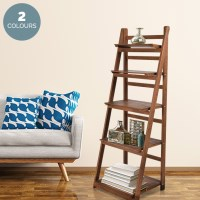 5 Tier Decorative Folding Ladder Display Shelf