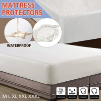 Double Luxury Non Woven Mattress Protector in White