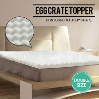 Double Egg Crate Bed Mattress Topper - 190x90x5cm