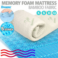 Queen Memory Foam Mattress Topper w/ Bamboo Fabric