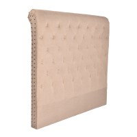 French Provincial King Fabric Headboard in Beige