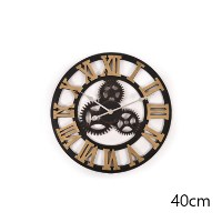 Handmade Vintage 3D Roman Wall Clock in Gold 40cm