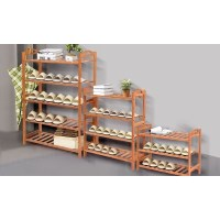Ordinaire Contemporary Bamboo Wood Shoe Storage Rack Shelf