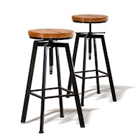 2X Vintage Retro Industrial Bar Stool Steel Home Kitchen Cafe Swivel Barstool