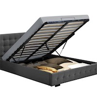 GAS LIFT STORAGE KING SINGLE DOUBLE QUEEN KING SIZE FABRIC LEATHER BED FRAME defaa6640