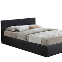 a13f6943ed31 GAS LIFT STORAGE SINGLE DOUBLE QUEEN KING SIZE PU LEATHER BED FRAME