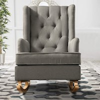 Luxury Sofa Chair Rocking Armchair Padded Fabric Lounge Recliner Fast Delivery
