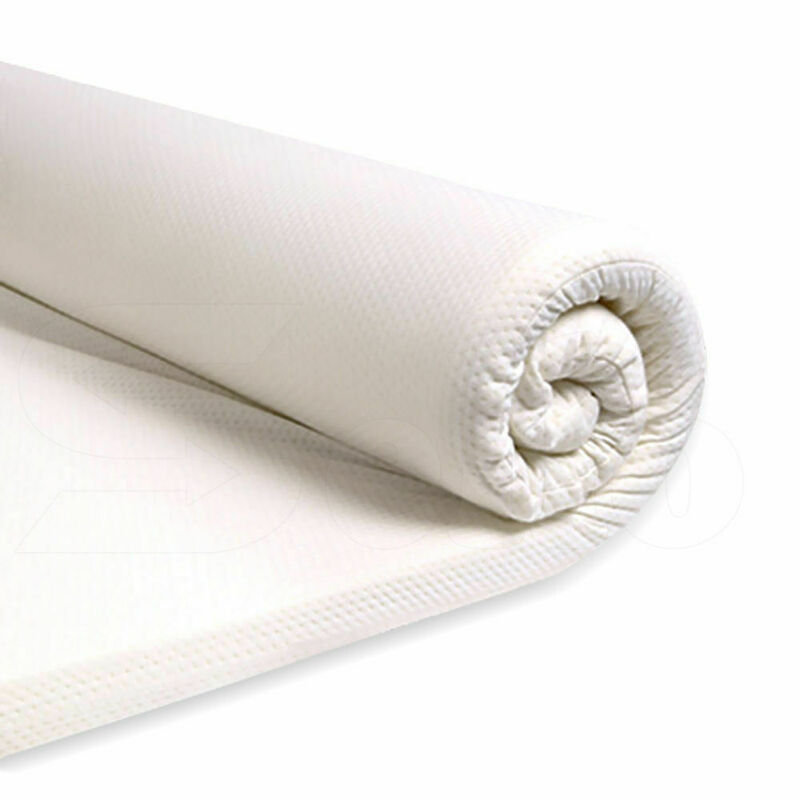 7cm Memory Foam Mattress Topper Polyester Underlay Cover Protector