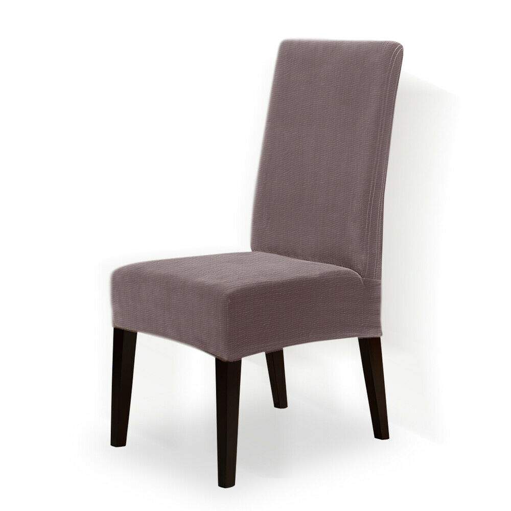 Color Choice Stretch Short Corduroy Dining Chair Cover