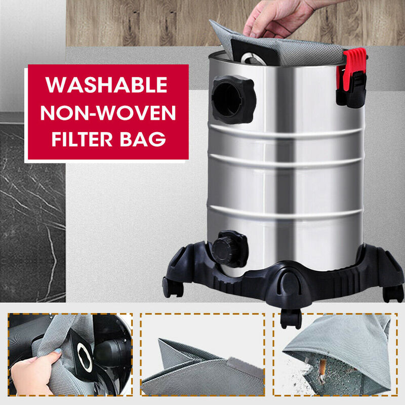 New 30L Wet & Dry Vacuum Cleaner Blower Industrial bagless Drywall Fast  Delivery